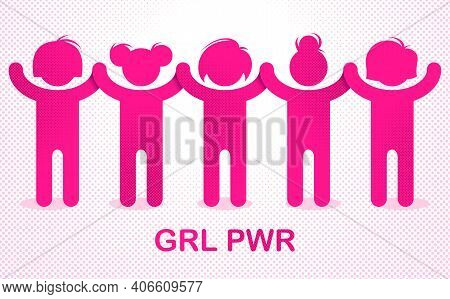 8 March Women Day International Holiday, Female Solidarity Concept, Fight For Rights Tolerance And E