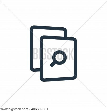 search file icon isolated on white background from file and archive collection. search file icon thi