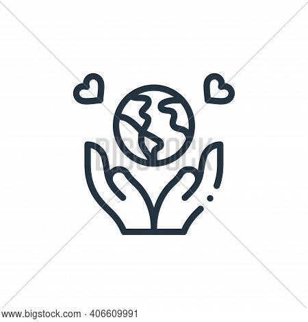 save the world icon isolated on white background from world love collection. save the world icon thi