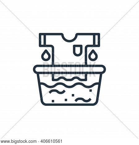 rinse icon isolated on white background from laundry collection. rinse icon thin line outline linear