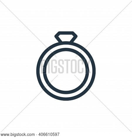 ring icon isolated on white background from fashion collection. ring icon thin line outline linear r