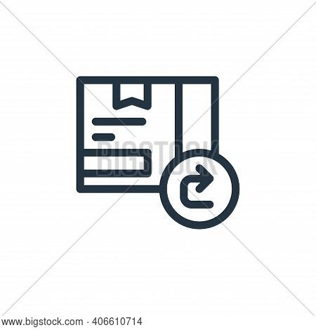 return box icon isolated on white background from ecommerce collection. return box icon thin line ou