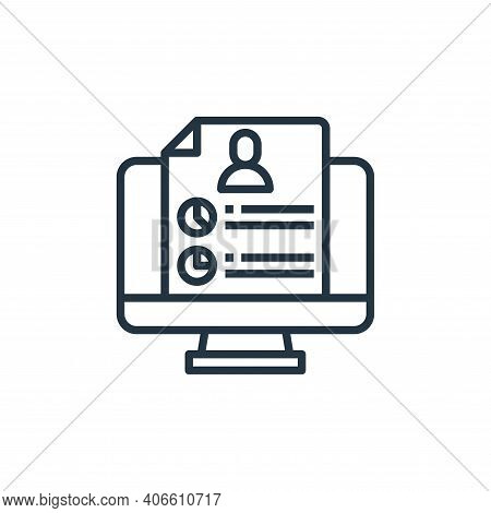 resume icon isolated on white background from human resources collection. resume icon thin line outl