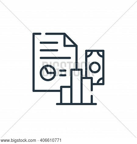 report icon isolated on white background from industrial process collection. report icon thin line o