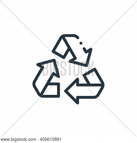 recycling icon isolated on white background from ecology collection. recycling icon thin line outlin