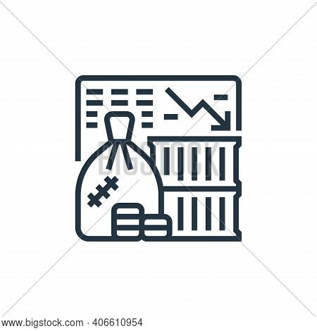 recession icon isolated on white background from economic crisis collection. recession icon thin lin