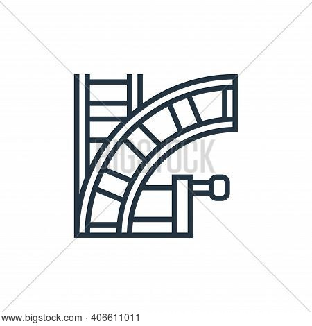 railways icon isolated on white background from railway collection. railways icon thin line outline