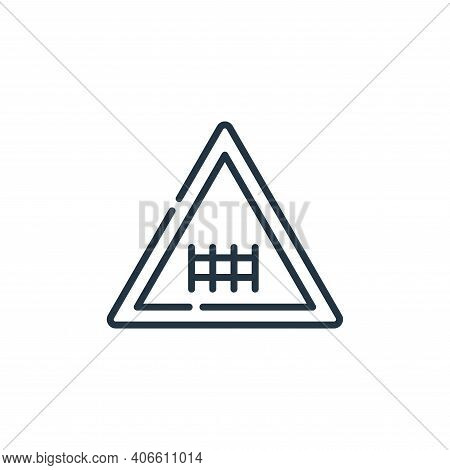 railway icon isolated on white background from signals and prohibitions collection. railway icon thi
