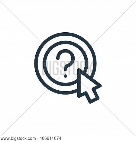 question icon isolated on white background from online learning collection. question icon thin line