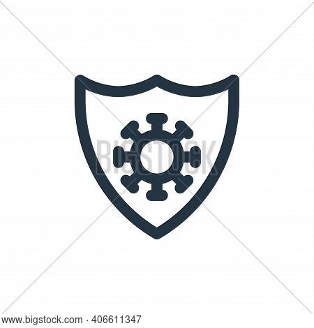 protection icon isolated on white background from virus transmission collection. protection icon thi