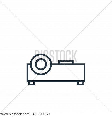 projector icon isolated on white background from school collection. projector icon thin line outline