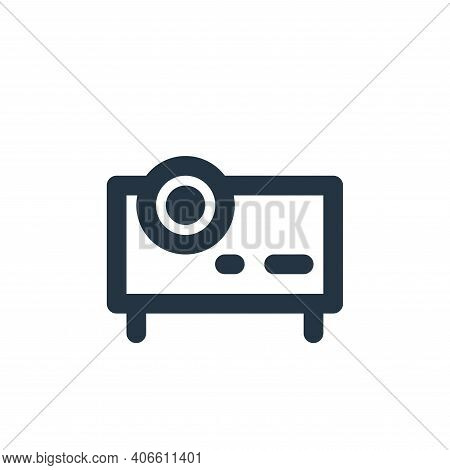 projector icon isolated on white background from electronics collection. projector icon thin line ou
