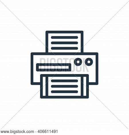 printer icon isolated on white background from school collection. printer icon thin line outline lin