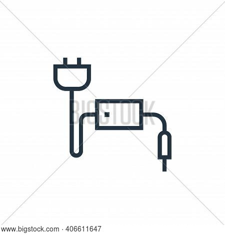power cable icon isolated on white background from hardware collection. power cable icon thin line o