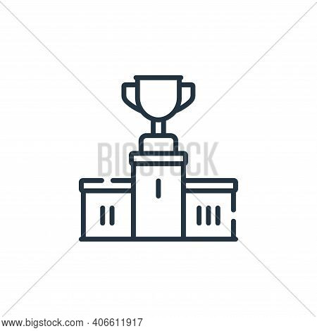 podium icon isolated on white background from baseball collection. podium icon thin line outline lin