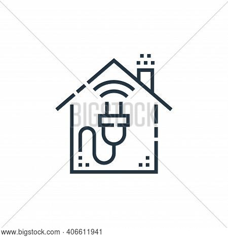 plug icon isolated on white background from smarthome collection. plug icon thin line outline linear