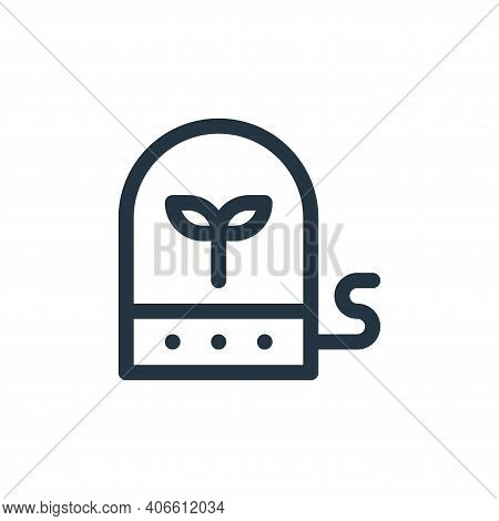 plant icon isolated on white background from technology of the future collection. plant icon thin li