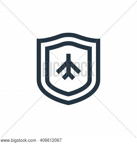 plane icon isolated on white background from insurance collection. plane icon thin line outline line