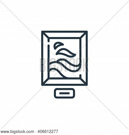 picture icon isolated on white background from fame collection. picture icon thin line outline linea
