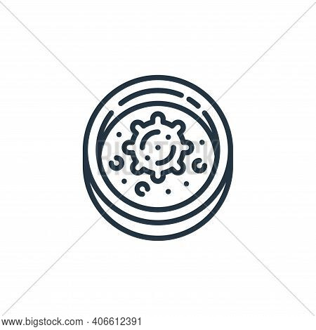 petri dish icon isolated on white background from virus transmission collection. petri dish icon thi