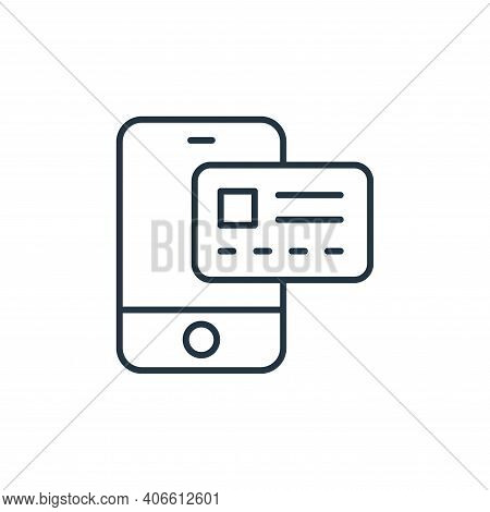 payment method icon isolated on white background from ecommerce collection. payment method icon thin