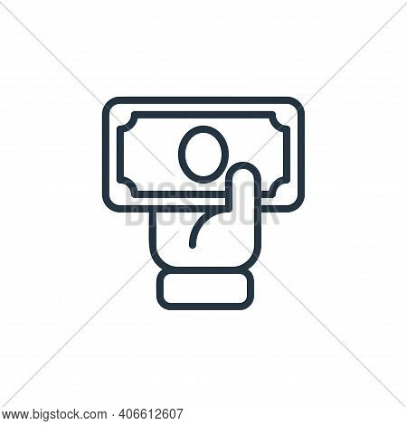 pay icon isolated on white background from money collection. pay icon thin line outline linear pay s