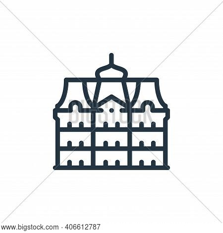 palace icon isolated on white background from europe collection. palace icon thin line outline linea