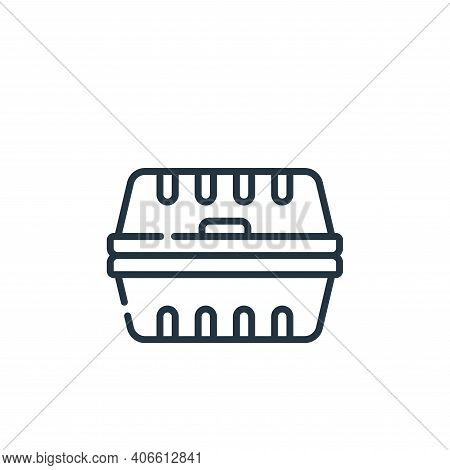 packaging icon isolated on white background from plastic products collection. packaging icon thin li