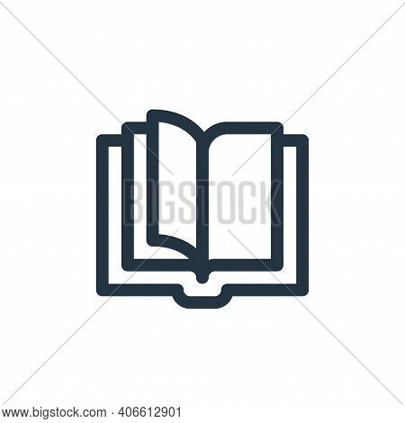 open book icon isolated on white background from communication and media collection. open book icon