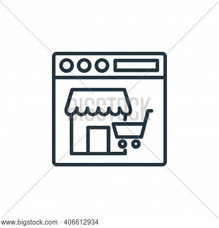 online shopping icon isolated on white background from shopping line icons collection. online shoppi