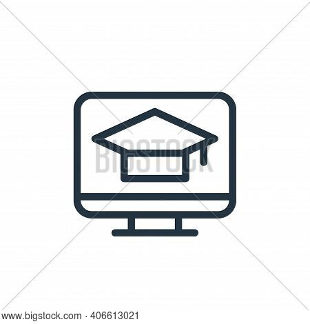 online learning icon isolated on white background from online learning collection. online learning i