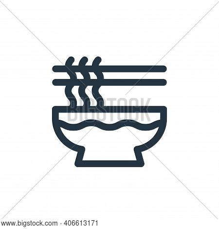 noodles icon isolated on white background from gastronomy collection. noodles icon thin line outline