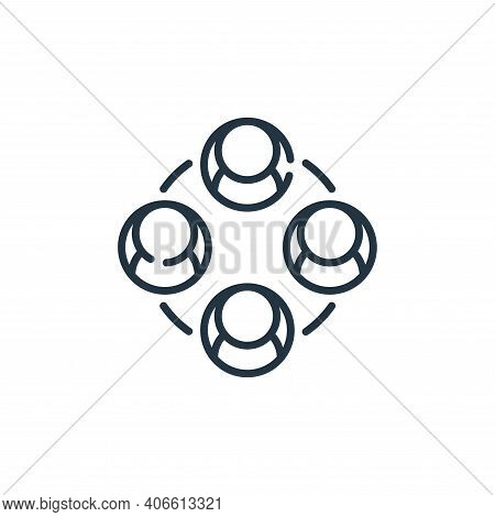 network icon isolated on white background from social media collection. network icon thin line outli
