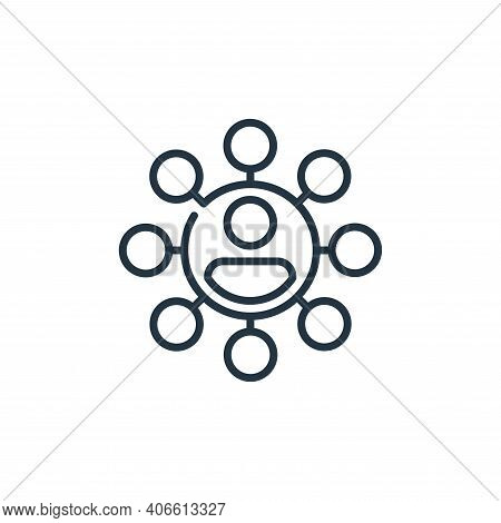 network icon isolated on white background from management collection. network icon thin line outline
