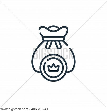 money bag icon isolated on white background from videogame collection. money bag icon thin line outl