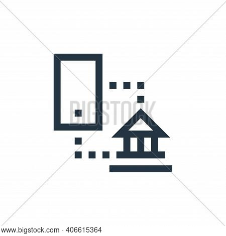 mobile banking icon isolated on white background from payment collection. mobile banking icon thin l
