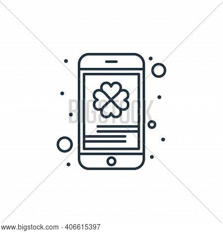 mobile icon isolated on white background from saint patrick collection. mobile icon thin line outlin