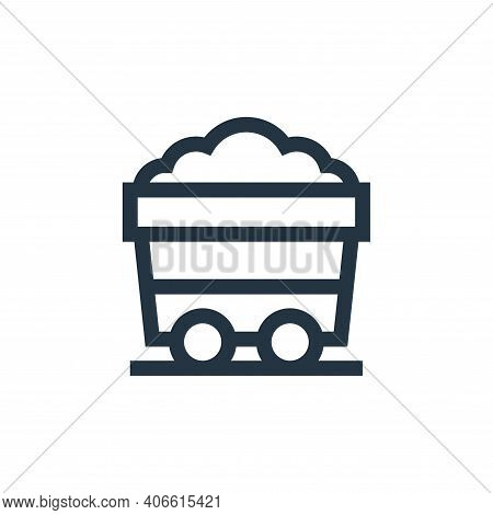 mining cart icon isolated on white background from video game elements collection. mining cart icon