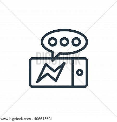 messenger icon isolated on white background from contact collection. messenger icon thin line outlin