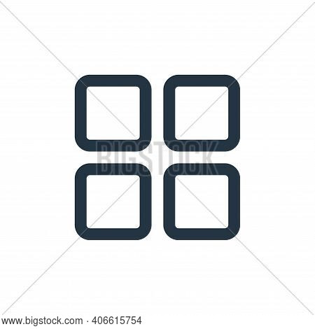 menu icon isolated on white background from multimedia collection. menu icon thin line outline linea