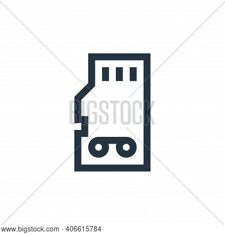 memory card icon isolated on white background from news collection. memory card icon thin line outli