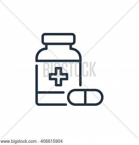 medicines icon isolated on white background from coronavirus collection. medicines icon thin line ou