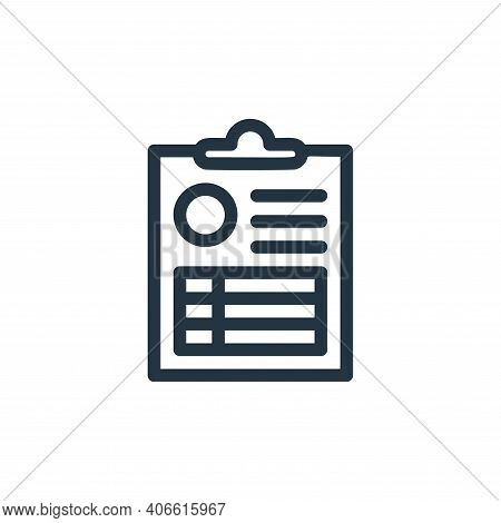 medical result icon isolated on white background from medical tools collection. medical result icon