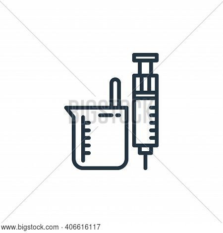 medical icon isolated on white background from virus collection. medical icon thin line outline line