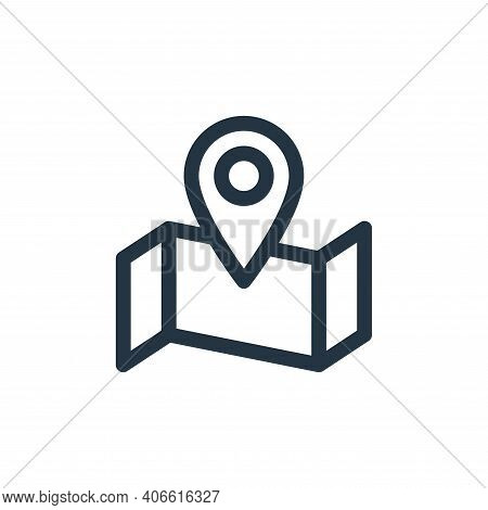 map icon isolated on white background from communication and media collection. map icon thin line ou