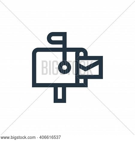 mailbox icon isolated on white background from advertisement collection. mailbox icon thin line outl