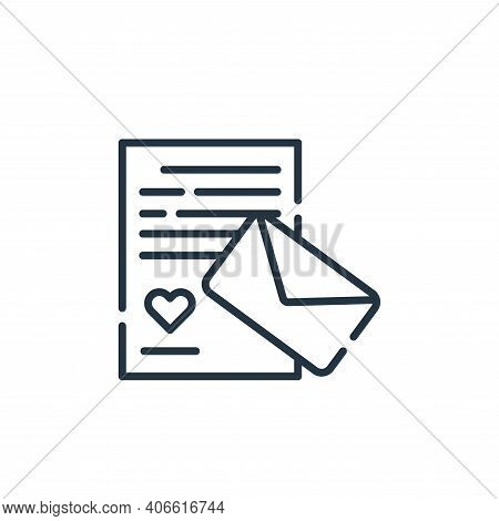 love letter icon isolated on white background from fame collection. love letter icon thin line outli