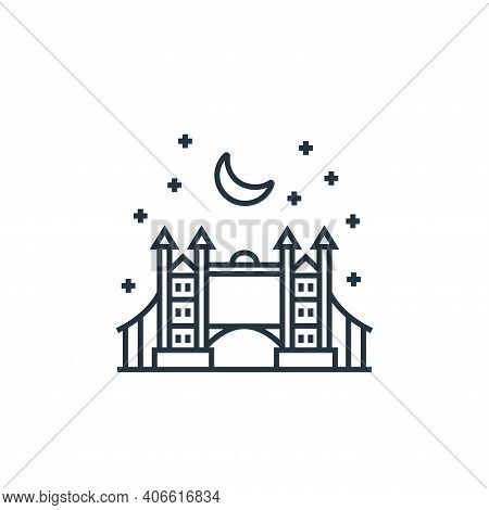 london bridge icon isolated on white background from tourism collection. london bridge icon thin lin