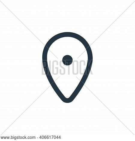 location icon isolated on white background from device collection. location icon thin line outline l