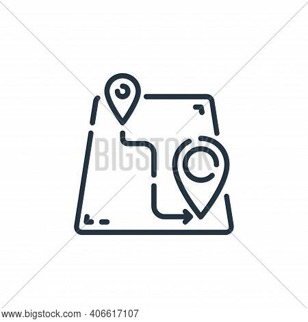 location icon isolated on white background from user interface collection. location icon thin line o